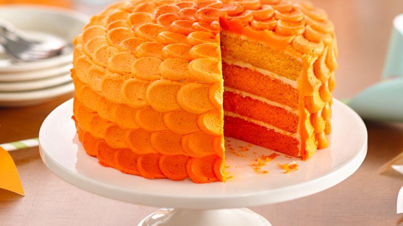Tangerine Cake With Box Yellow Mix