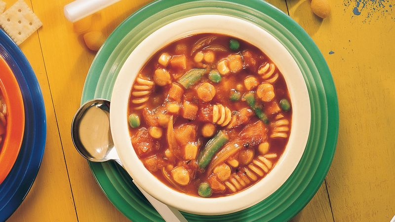 Moroccan Vegetable and Pasta Soup