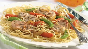 Turkey Scaloppine with Vegetables