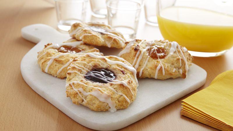 Glazed Fruit-Filled Drop Biscuits