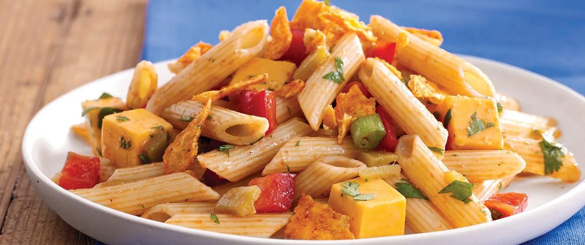Green Chile-Cheddar Macaroni Salad Recipe — Dishmaps