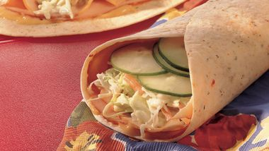 Honey Mustard-Turkey Tortillas