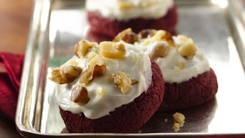Red Velvet Rich and Creamy Cookies