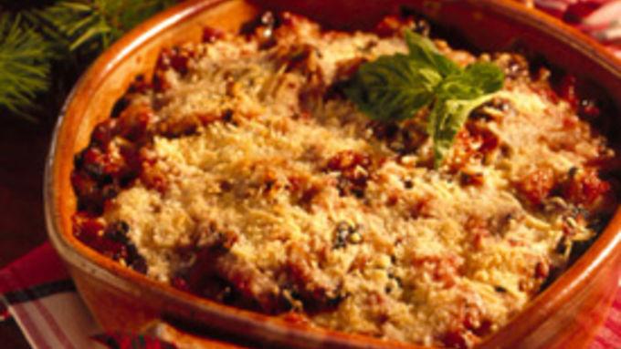 Baked Polenta with Peperonata Sauce