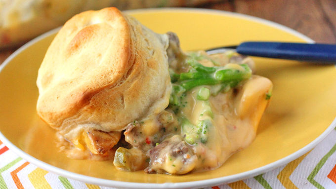 Cheesy Steak and Potato Casserole