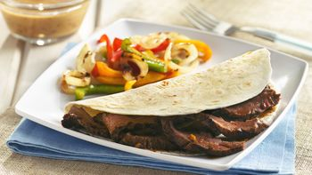 Grilled Flank Steak with Smoky Honey Mustard Sauce