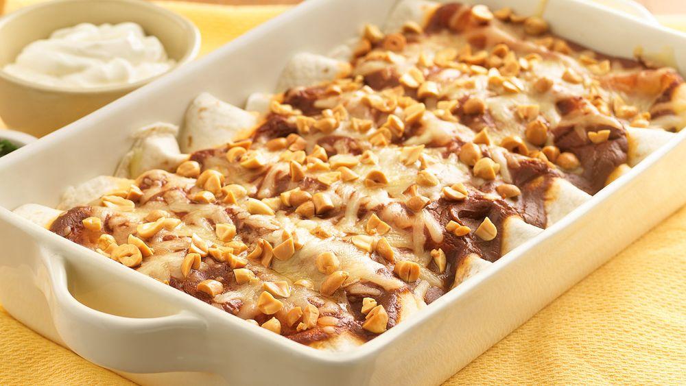 Peanut Butter Mole Enchiladas