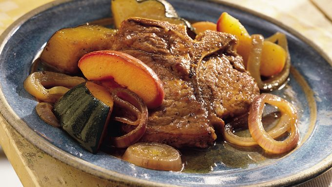 Pork with Apples and Squash