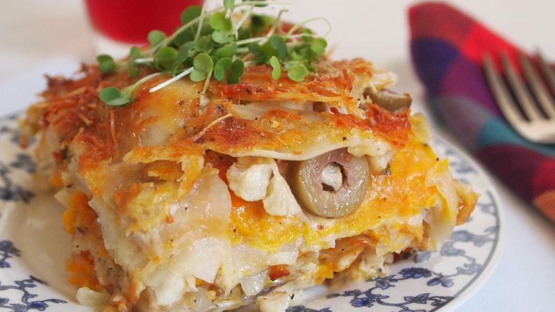 Tortilla de Papas, Batatas y Coliflor