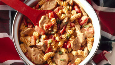 Spicy Peanut Butter-Pork Pasta