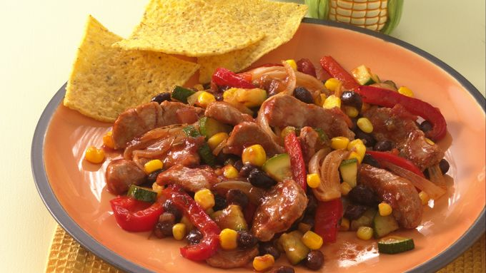 Southwest Pork and Black Bean Stir-Fry