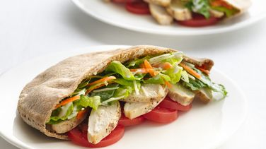 Chicken Caesar Pitas