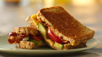 Bacon, Tomato and Avocado Grilled Cheese