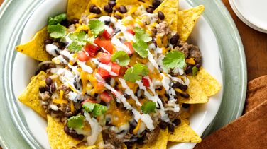 Beef and Black Bean Nachos