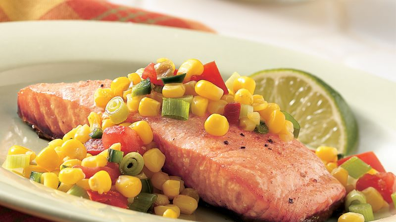 Grilled Salmon with Corn Salsa