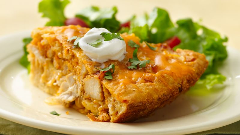 Impossibly Easy Chicken Taco Pie recipe from Betty Crocker