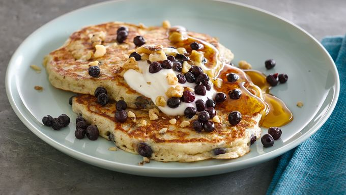 Power Pancakes with Quinoa and Blueberries