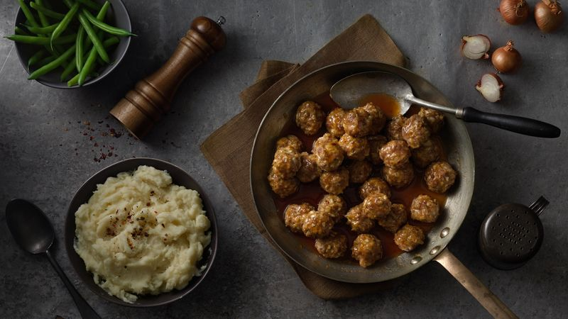 Spicy Sausage Meatballs with Maple Cider Glaze recipe from Betty ...