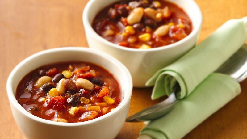 Vegetarian Black and White Bean Chili