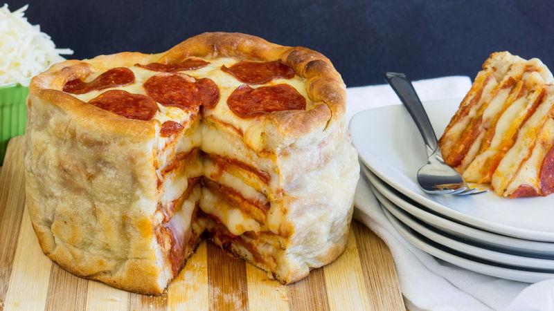 Pepperoni Pizza Cake