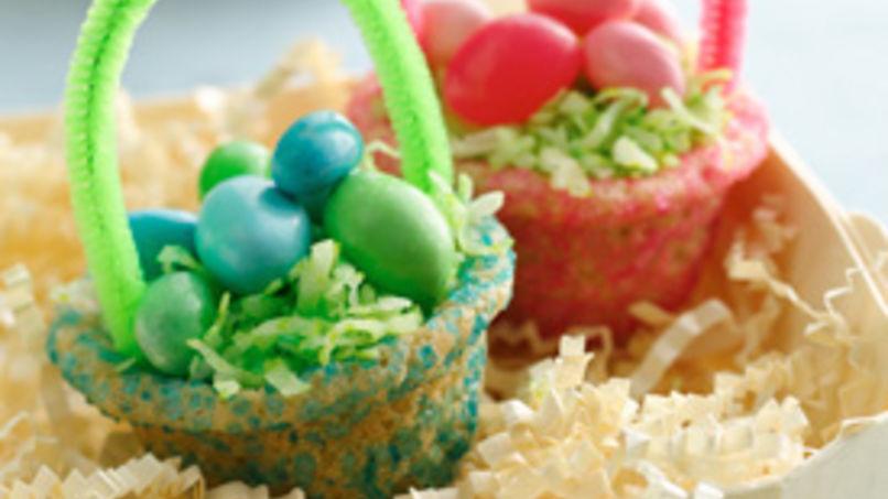 Galletas con forma de Canasta de Pascua