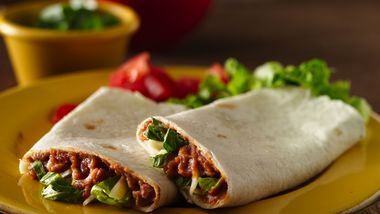 Refried Bean Roll-Ups (lighter recipe)