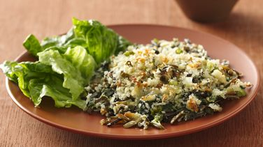 Wild Rice and Spinach Gratin