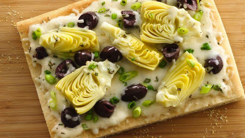 Artichoke and Olive Pizza