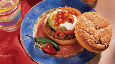 Grilled Salsa Burgers