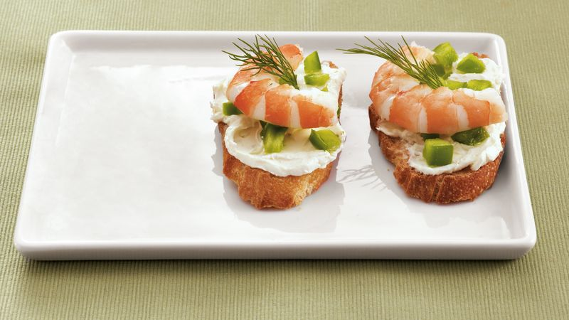 Shrimp and Dill Toasts