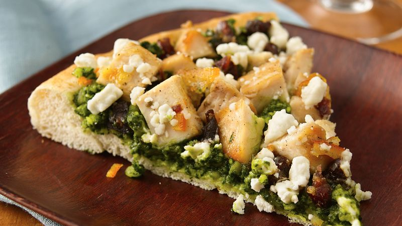 North African-Style Chicken Pizza