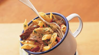 Penne with Beef and Sun-Dried Tomatoes