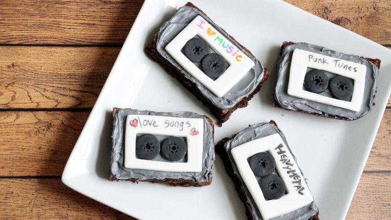 Mix Tape Brownies