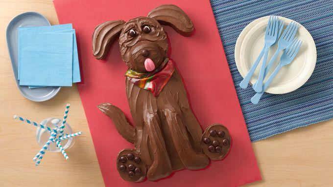 Chocolate Lab Dog Cake