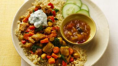 Slow-Cooker Vegetable Curry with Couscous