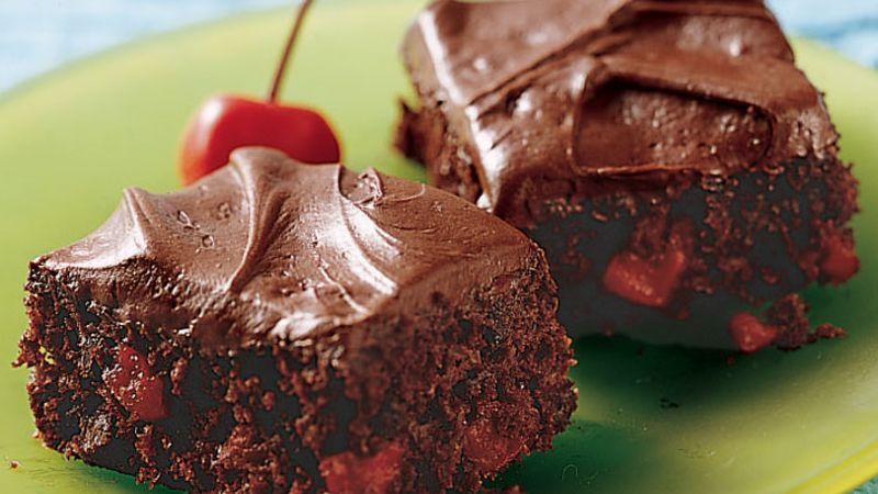 Triple-Chocolate Cherry Bars