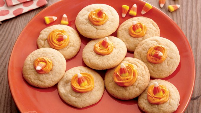 Melting Candy Corn Cookies
