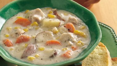 Slow-Cooker Dill-Turkey Chowder