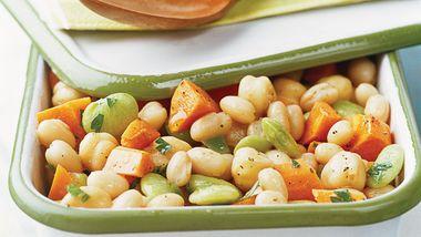 Skinny Tangy Triple Bean Salad
