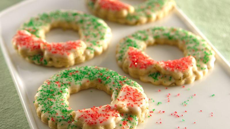 Christmas Wreath Sugar Cookies