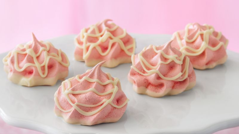 Cherry Meringue Puffs
