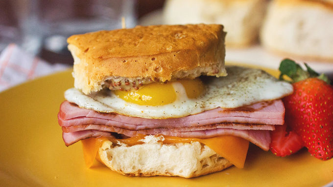 Eggs Benedict Breakfast Sandwiches recipe - from Tablespoon!