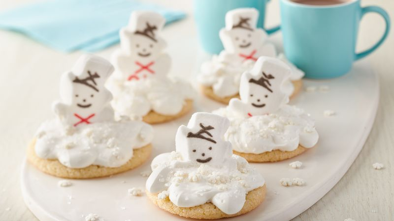 Melting PEEPS® Snowmen Cookies