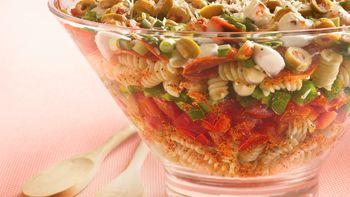 Layered Pizza Salad
