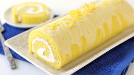 Lemon Cream Cheese Roll Cake