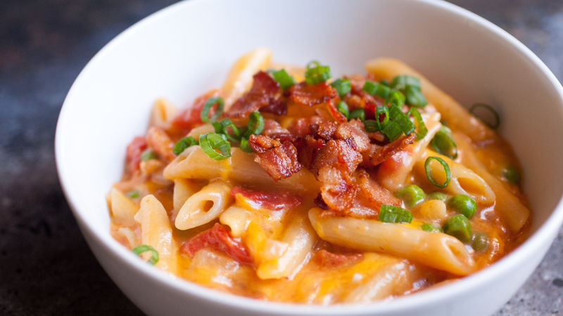 One-Pot Bacon Cheddar Penne