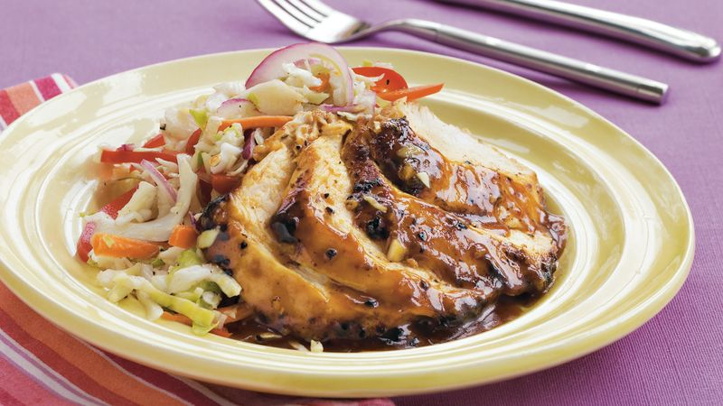 Skillet BBQ Chicken with Slaw