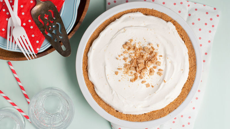 Cinnamon Cereal Milk Banana Cream Pie