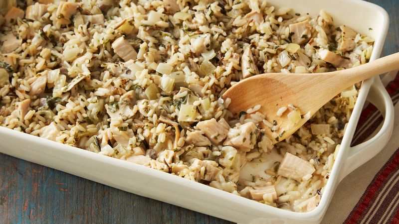 Wild Rice and Turkey Casserole