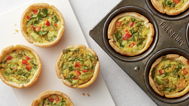 Veggie Lover S Mini Quiche Recipe Pillsbury Com